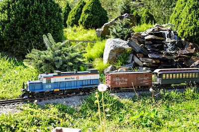 Garden Train at Jewell Gardens - Skagway, Alaska