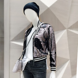 Sequined bomber jacket from Rebecca Minkoff.