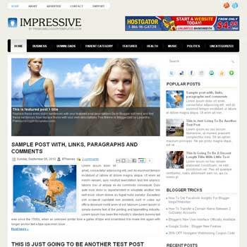 Impressive blog template. magazine blogger template style. magazine style template blogspot. free blogspot template
