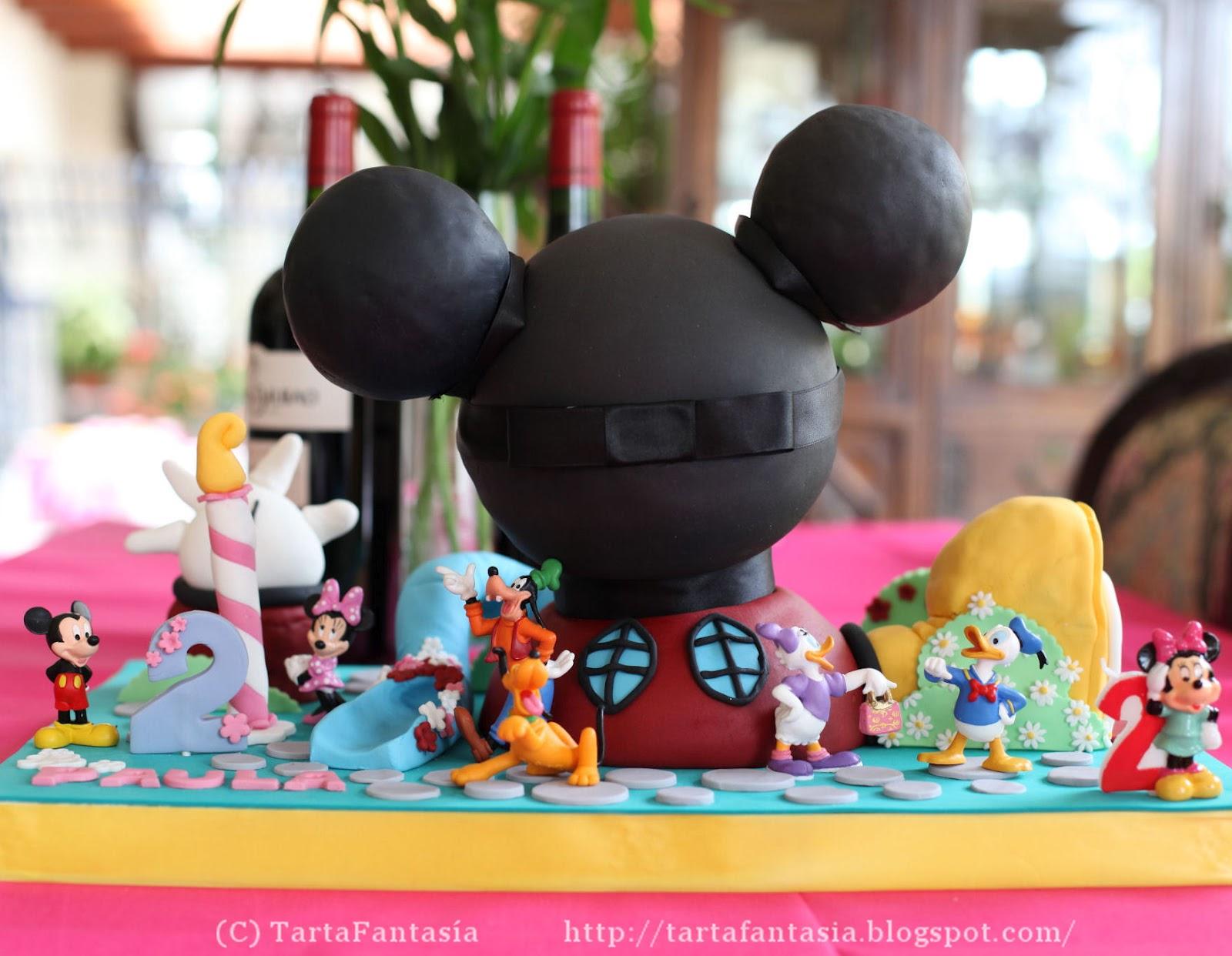 Tarta La Casa de Mickey Mouse y Paso a paso modelado de