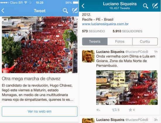 """Apoiadores de Dilma usam foto da Venezuela para ilustrar """"onda vermelha"""" em Recife"""