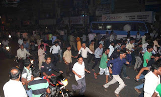 Serial blasts rock Hyderabad