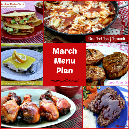 march menu - menu plan monthly