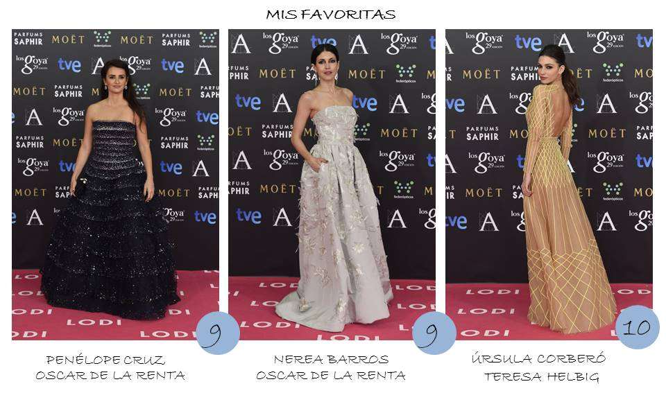 Favoritas OnlyNess alfombra roja Goya 2015
