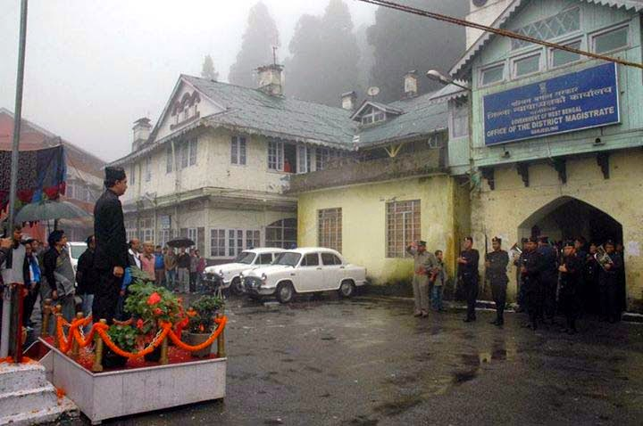 Independence Day celebration in darjeeling DM office