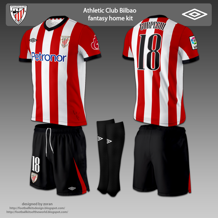 Football Kits Design Athletic Club Bilbao Fantasy Kits