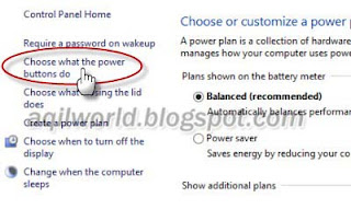 in Windows 8 How to Enable Hibernate Option