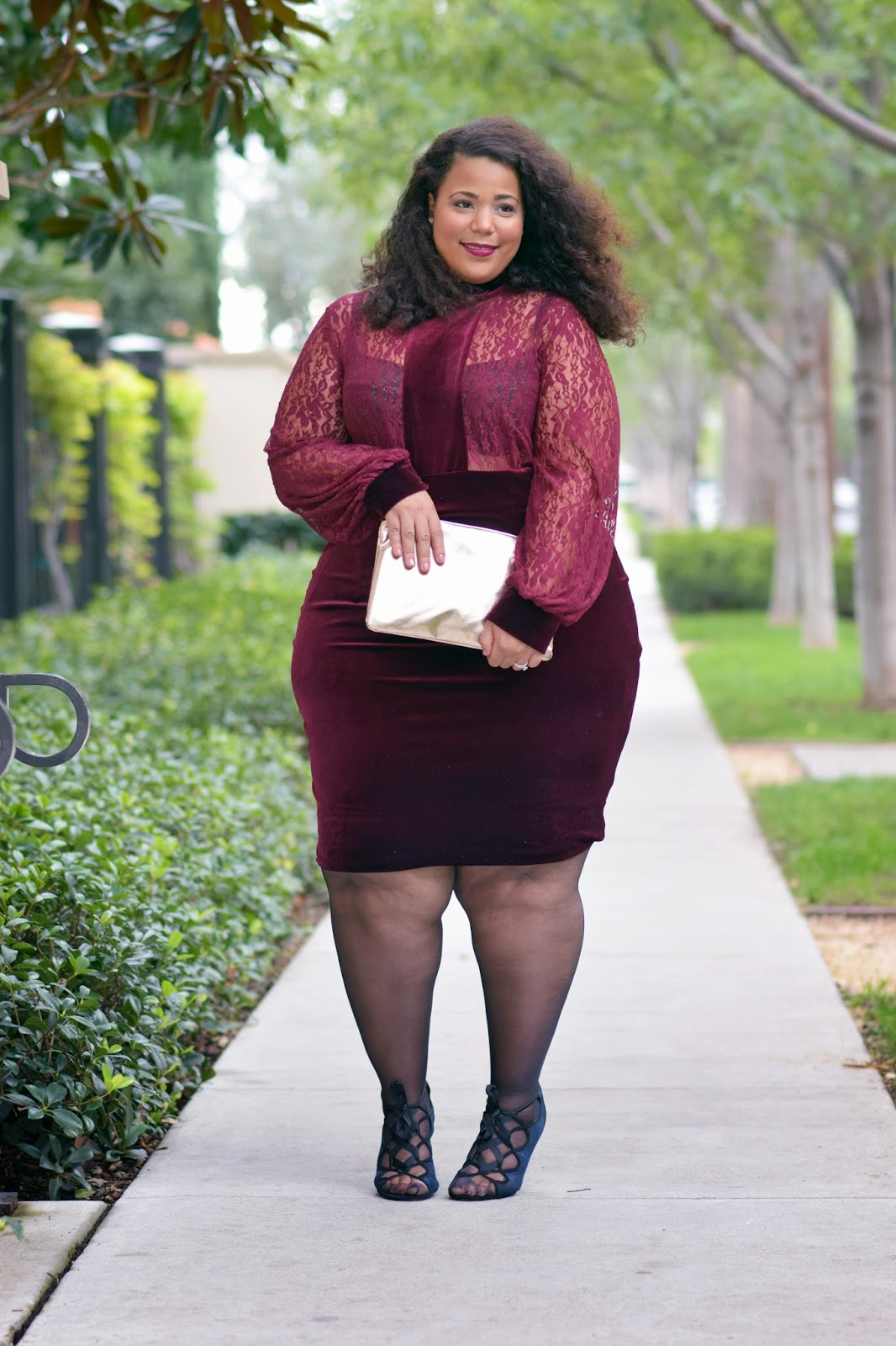 Plus Size Velvet Dress
