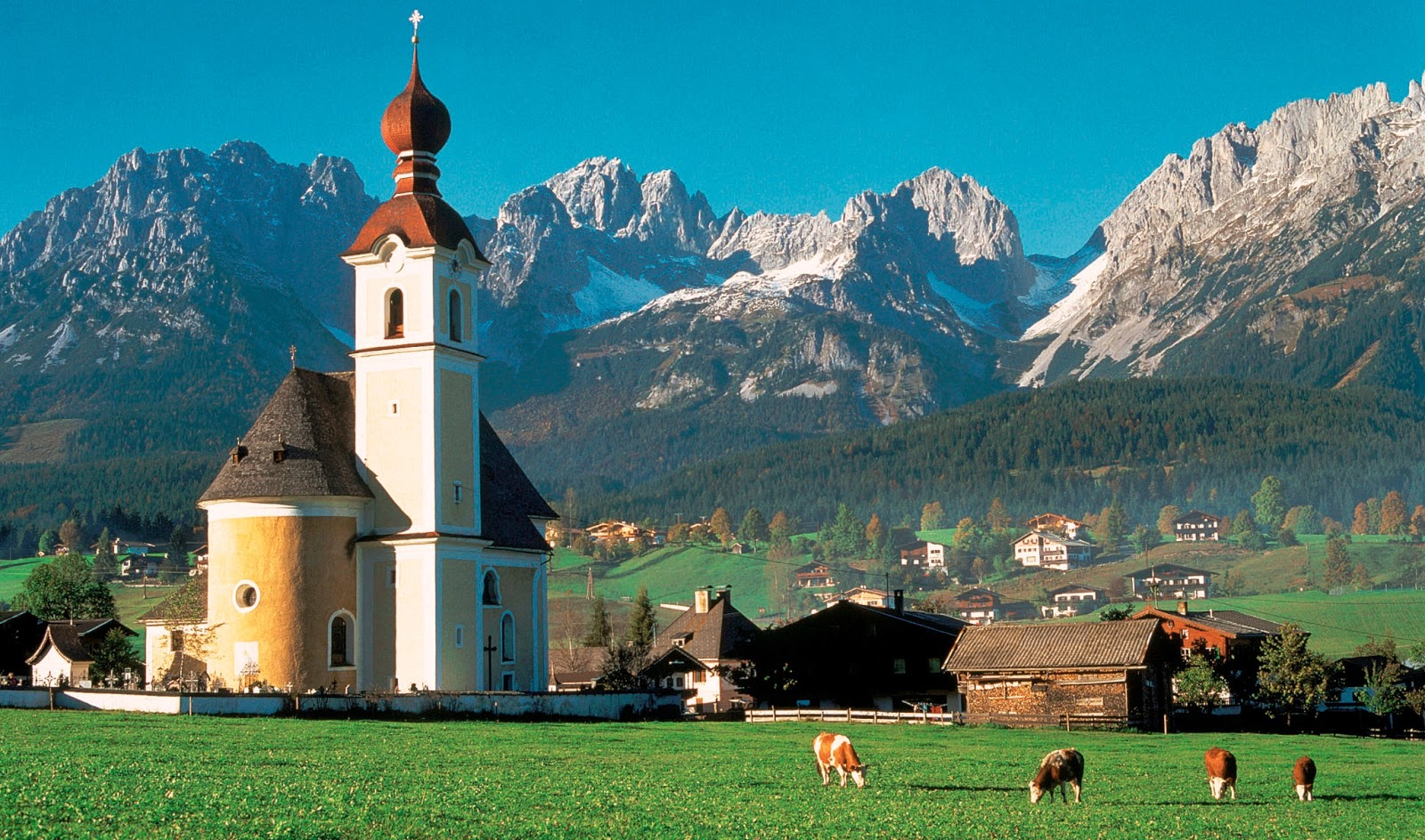 Worgl Austria  City pictures : Mountain ranges converge in picture perfect Tirol also spelled Tyrol ...