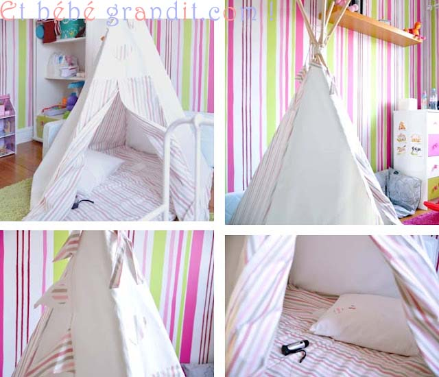 comment construire un tipi et b b grandit en unschooling. Black Bedroom Furniture Sets. Home Design Ideas