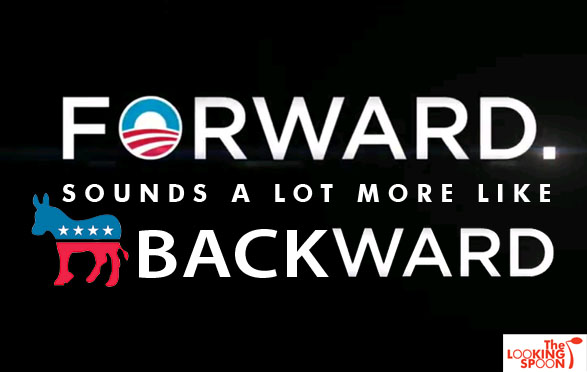 obama slogan backward