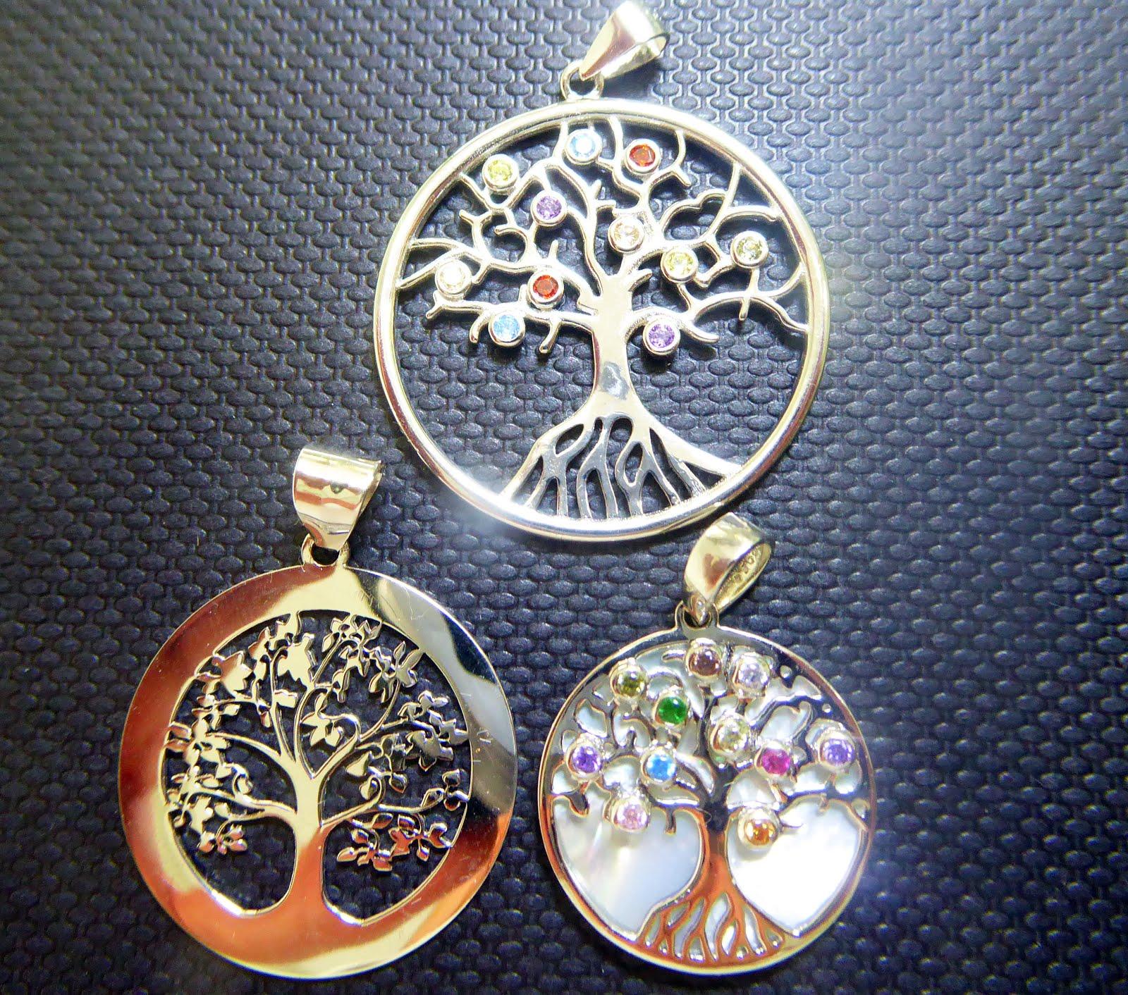 Colgantes del Árbol de la Vida en plata
