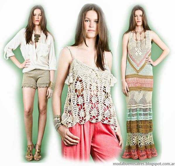 Moda Tejidos verano 2014. Agostina Bianchi primavera verano 2014 colección.