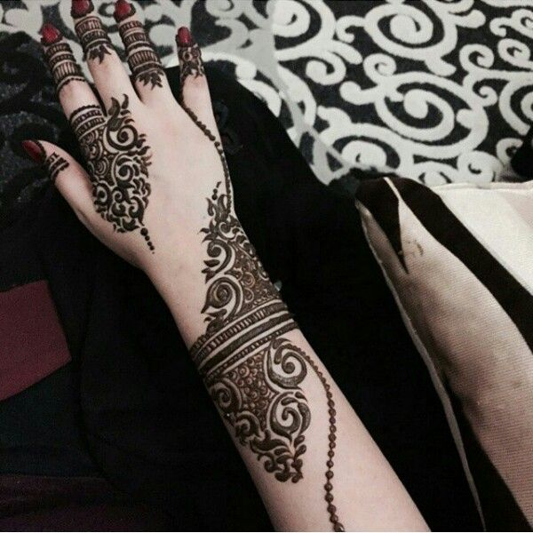 Dubai Mehndi Patterns : New dubai style mehndi design makedes