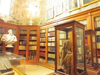 library, Peru, mummified, Lisbon, convent, bookshelf, inside