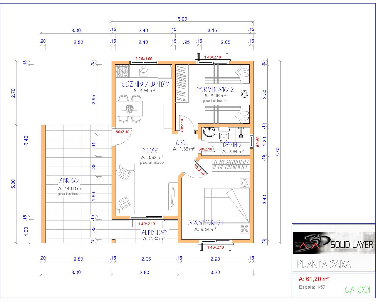 Casa 3d cad design for Design della casa cad