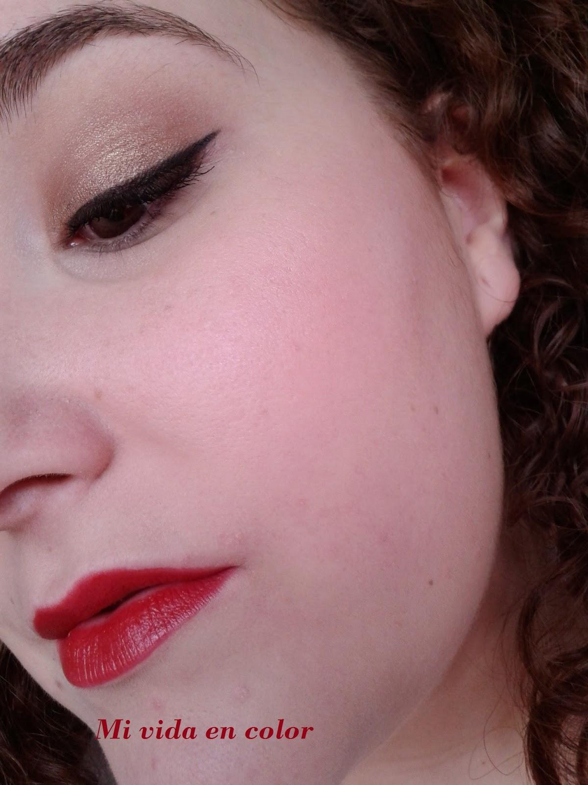 Maquillaje en dorado