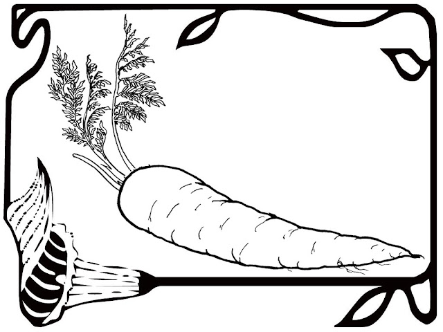 carrot plant coloring page