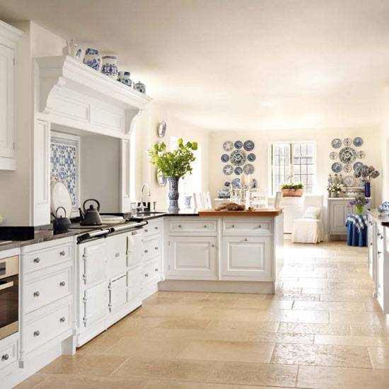 Dekorasyon b lg ler country mutfaklar for Blue and white country kitchen ideas