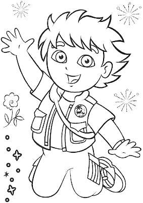 Go Diego Printable Coloring Pages