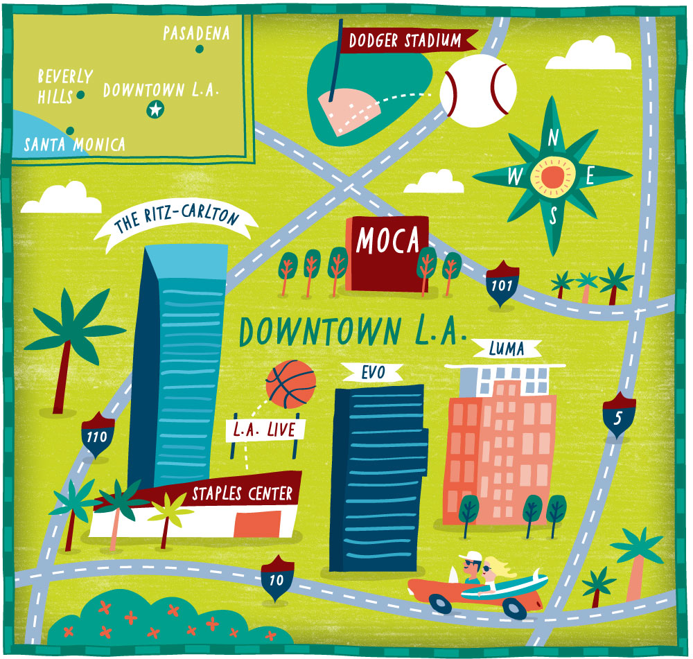 I Draw Maps Los Angeles Map For The Wall Street Journal