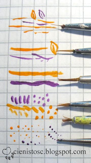 Pędzelki i farbki akrylowe do zdobienia paznokci