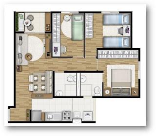 2 e 3 dormitorios carrao