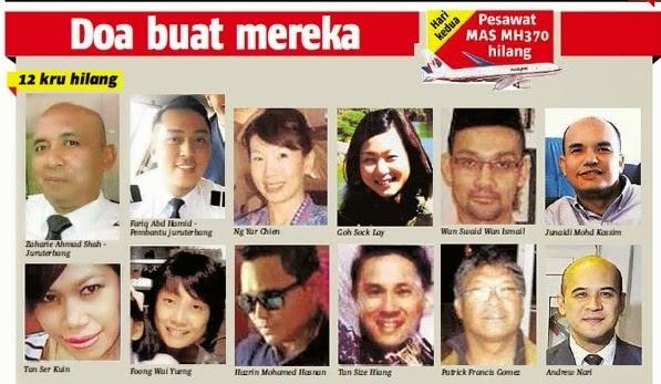 Gambar-Gambar Kru Dan Penumpang Pesawat MH370 Yang Malang