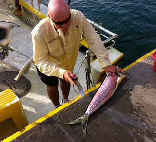 Cleaning Mahi Mahi, Sea Wife Charters