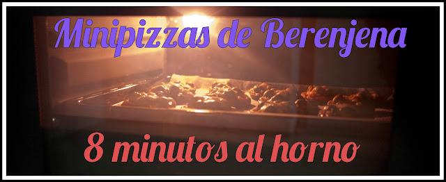 Minipizzas de berenjena en el horno