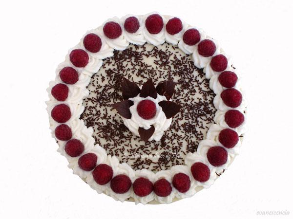 tarta vista desde arriba