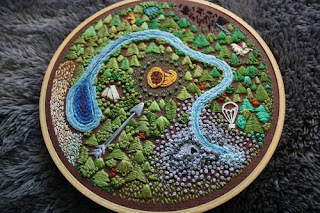 Hunger Games, crafts, embroidery