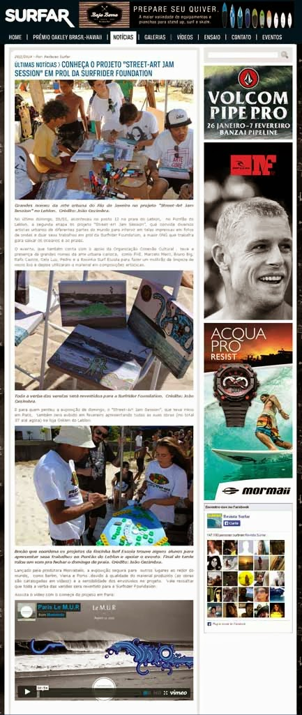 Street Art Jam_Surfider Foundation na Revista Surfar