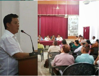Bimal Gurung Addressing the members of the Gorkhali Sudhar Sabha in Dehradun