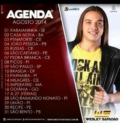 Fique Atualizado e Confira Aqui algumas agendas forrozeira do mês de Agosto 2014 das Bandas: