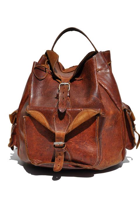 goodbye heart vintage vintage leather back pack vintage. Black Bedroom Furniture Sets. Home Design Ideas