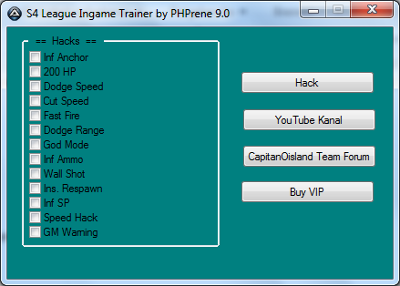 S4 League Hile ingame Trainer PHPrene Uptade 17.05.2013 indir