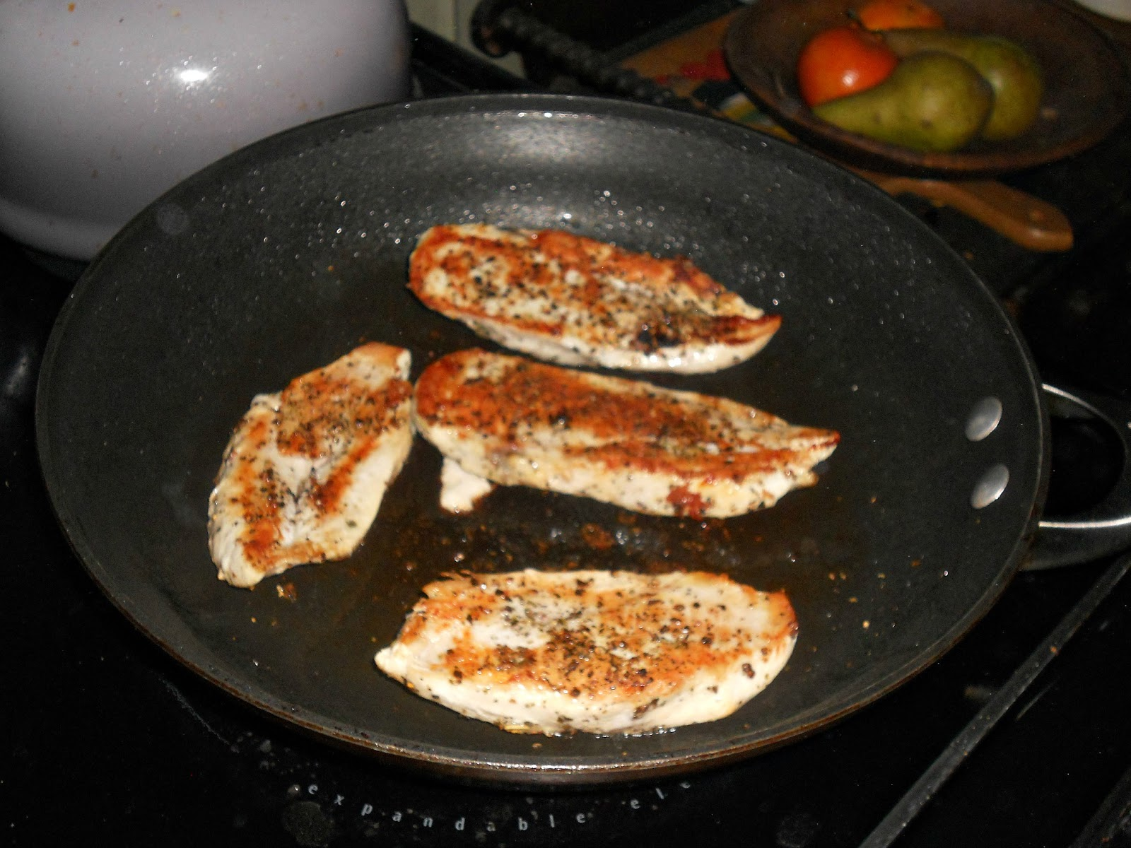 Season The Chicken Breasts With Salt And Pepper Heat 1 Tablespoon Of Oil In A Skillet Over Medium High Heat Cook The Chicken For 6 8 Minutes On Each Side