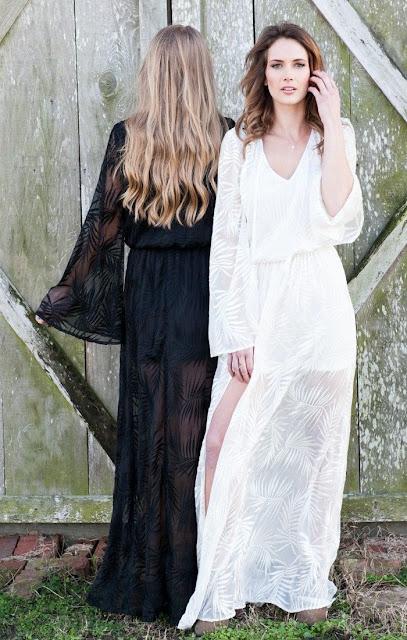 Mumu maxi dresses in black and white