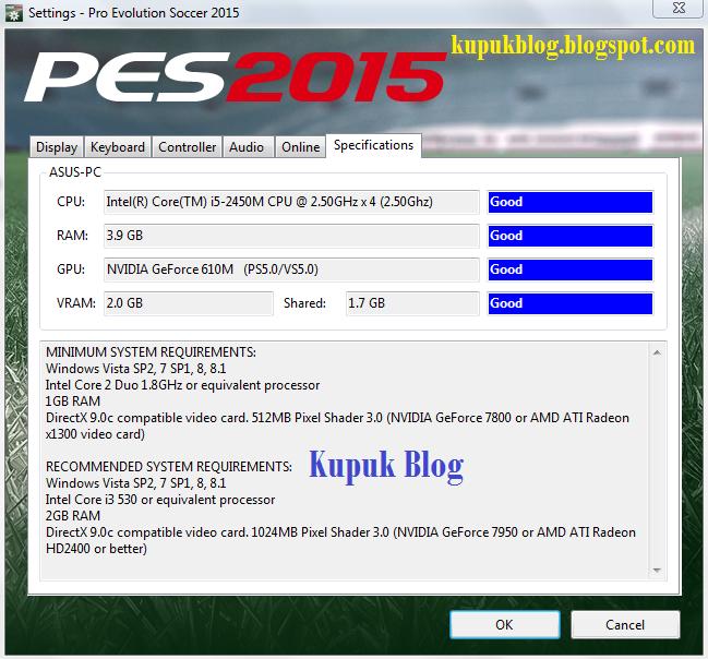 Cara Mengatasi VGA Tidak Terdetek di PES 2015-kupuk blog