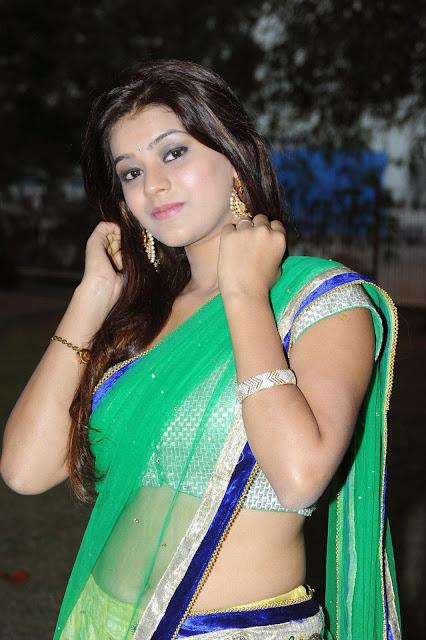 Yamini Bhaskar in Lovely Green Saree and Backless Silver Choli Spicy Pics
