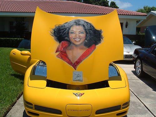 Oprah Corvette Art Car