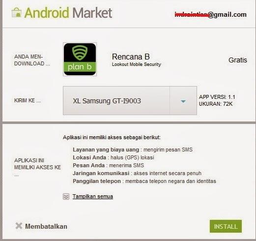 Melacak Keberadaan HP Android menggunakan Aplikasi Plan B
