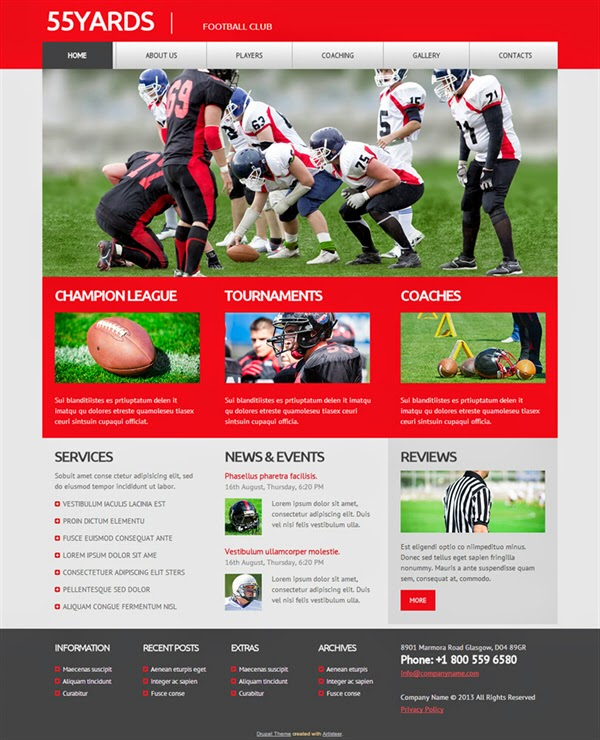 55 Yards - Free Drupal Theme