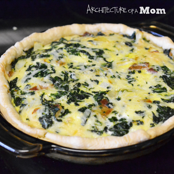 Architecture of a Mom: Bacon Spinach Quiche