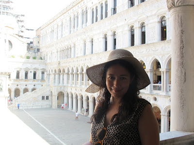 standing in the Doge's palace