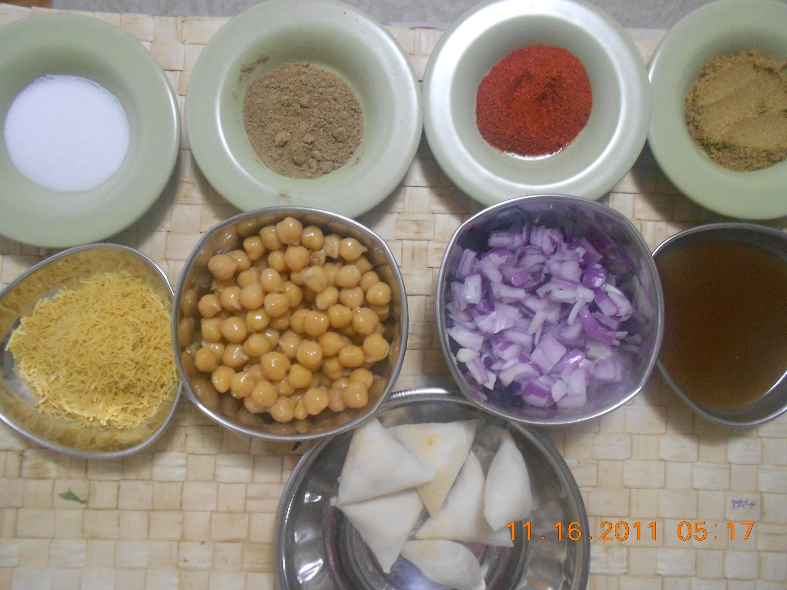 swethas indian vegetarian cuisine samosa ragada