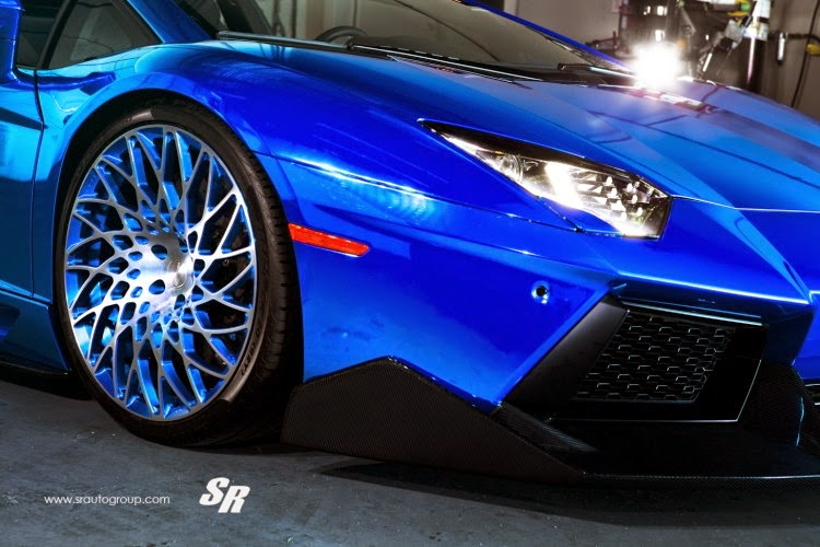 Modified Cars Modified Electric Blue Lamborghini Aventador