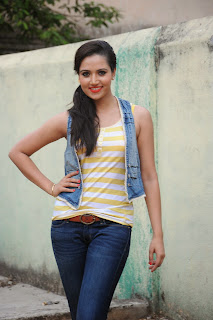 Preeti Rana in Tank Top and Denim Jeans