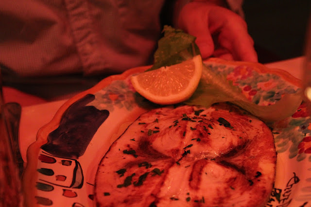 Grilled swordfish at Chez Black, Positano, Italy
